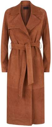 AllSaints Ember Suede Trench Coat