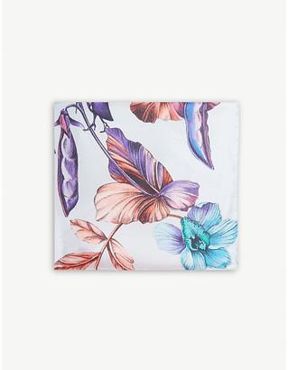 Eton Signor Baccello print silk pocket square