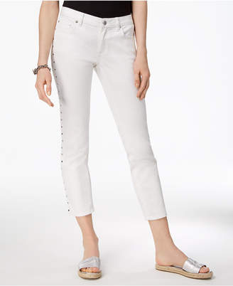 Michael Kors Cropped Studded Capri Jeans,