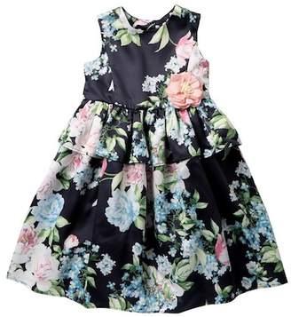 Laura Ashley Midnight Floral Dress (Toddler & Little Girls)