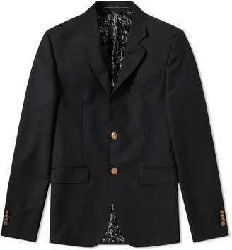 Givenchy Gold Button Single Breasted Blazer
