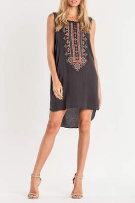 Miss Me Embroidered Tank Dress