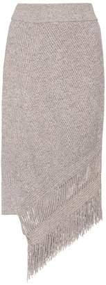 Stella McCartney Asymmetrical cashmere and wool skirt