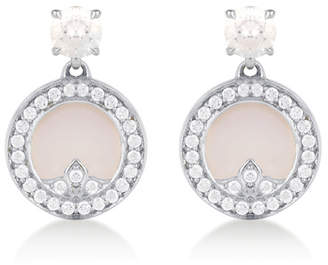 Treasure Empress 18ct White Gold Mother of Pearl and 0.62cttw Diamond Drop Earrings