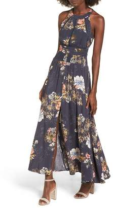 BP Floral Print Halter Maxi Dress