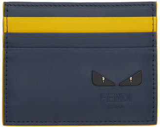 Fendi Navy and Yellow I See You Card Holder