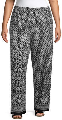 NEW DIRECTION Knit Printed Pant-Plus