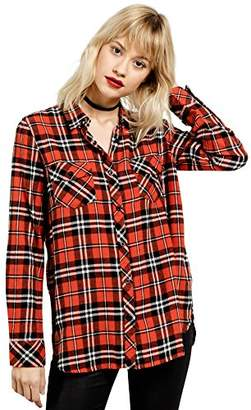 Volcom Junior's Fly High L/s Plaid Top