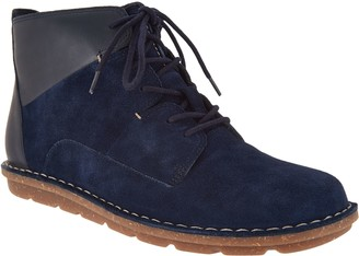 Clarks Leather & Suede Lace-up Ankle Boots - Tamitha Key