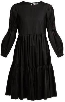 Molly Goddard - Tiered Cotton Twill Dress - Womens - Black