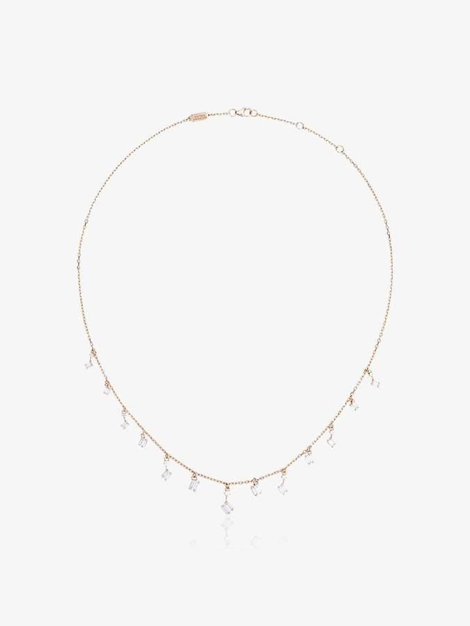cascade fireworks dangling diamond necklace