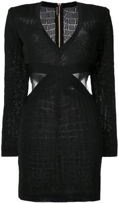 Balmain cut out dress