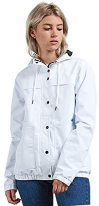 Volcom Junior's Enemy Stone Hooded Zip Front Windbreaker Jacket