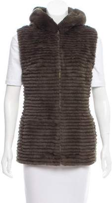 Glamour Puss Glamourpuss Fur-Paneled Down Vest