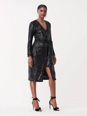 Diane von Furstenberg Melina Sequined Jersey Knee-Length Dress