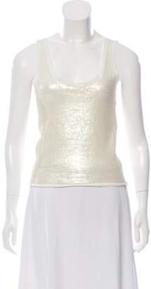 Behnaz Sarafpour Sequined Sleeveless Top Sequined Sleeveless Top