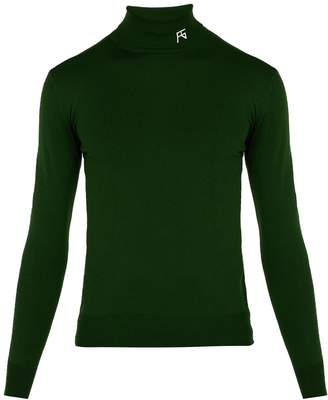 Raf Simons Logo wool-blend roll-neck sweater