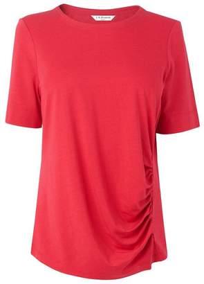 LK Bennett Libby Blush Cotton Jersey Top