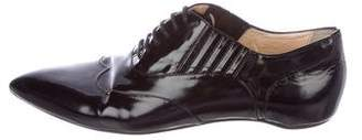Christian Louboutin Patent Leather Lace-Up Oxfords