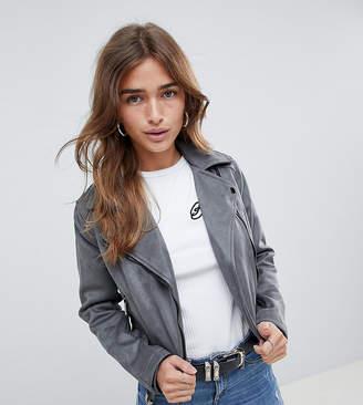 New Look Petite Olivia Suedette Biker Jacket