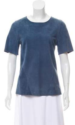 Jason Wu Suede Short Sleeve Top w/ Tags