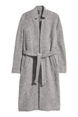 H&M Wool-blend Coat - Gray melange - Women