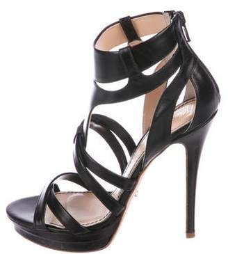 Jerome C. Rousseau Leather Caged Sandals