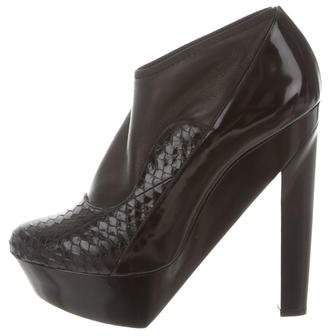 Pierre Hardy Python-Trimmed Ankle Boots