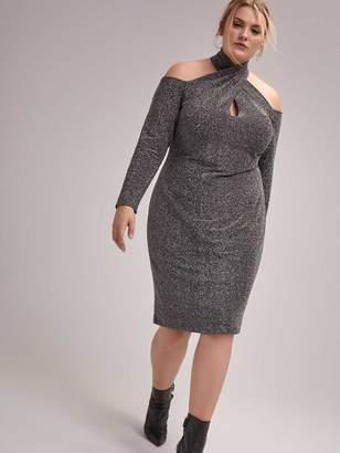Off-the-Shoulder Halter Dress - RACHEL Rachel Roy