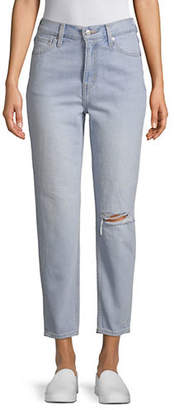 Levi's Mom Distressed Cropped Jeans