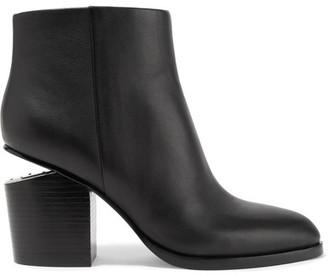 Alexander Wang - Gabi Cutout Leather Ankle Boots - Black $650 thestylecure.com