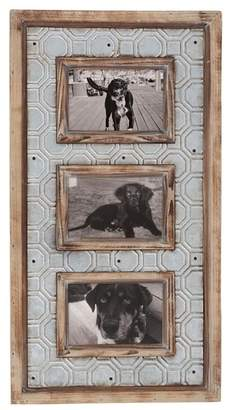 Foreside Home & Garden 4x6 3 Photo Punch Metal Frame