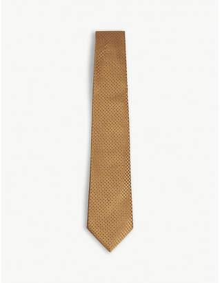 Canali Impeccabile spotted silk tie