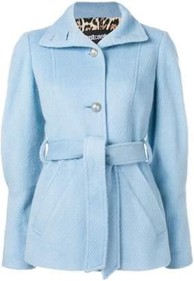 Just Cavalli belted short coat
