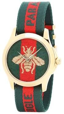 Gucci Le Marché des Merveilles 38mm striped fabric watch