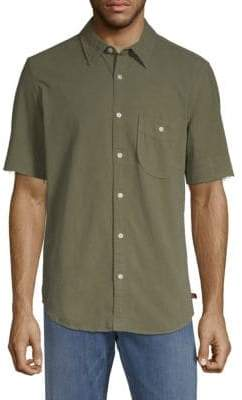 7 For All Mankind Released-Hem Cotton Button-Down Shirt