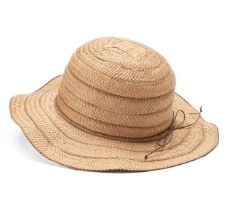 Chaps Women's Wavy Brim Striped Floppy Sun Hat