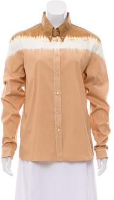 Prada Tie-Dye Long Sleeve Button-Up