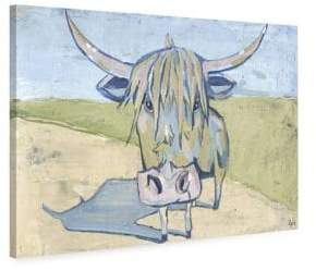 Marmont Hill Shaggy Bull Painting Print on Wrapped Canvas