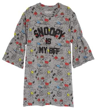 Little Eleven Paris Little ELEVENPARIS Peanuts(R) Snoopfriends Sweatshirt Dress