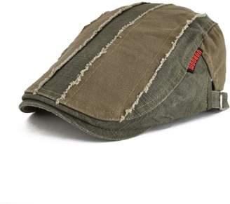 3d4dacc6047 VOBOOM® 100% Cotton Distressed Ivy Caps Newsboy Caps Cabbie Hat Gatsby Hat