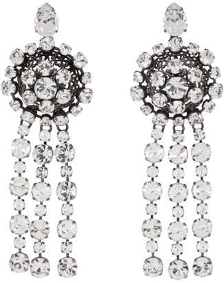 Gucci Silver Tennis Crystal Earrings