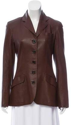 Hermes Leather Structured Blazer