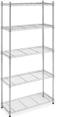 NSF BestOffice Wire Shelving Unit 5-Tier Heavy Duty Height Adjustable Commercial Grade Large Storage Utility Steel Layer Rack Organizer for Kitchen Bathroom Bedroom Garage