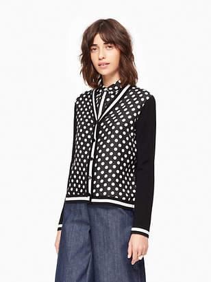 Kate Spade Dot stripe cardigan
