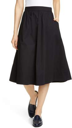 88250e5a337c5 Eileen Fisher Gathered Organic Stretch Cotton Midi Skirt