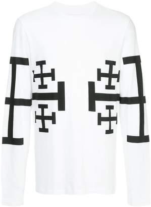Neil Barrett cross motif top