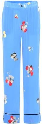 Ganni Joycedale printed silk trousers