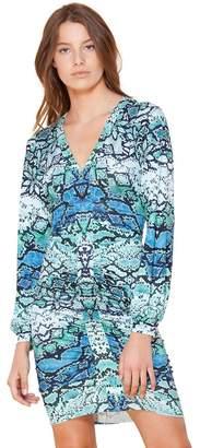 Hale Bob Sarely Shirred Jersey Dress