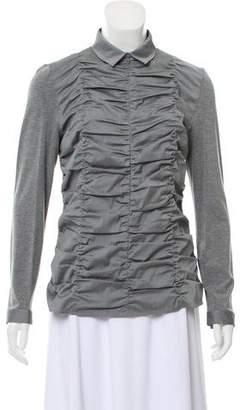 Akris Punto Ruched Long Sleeve Top w/ Tags